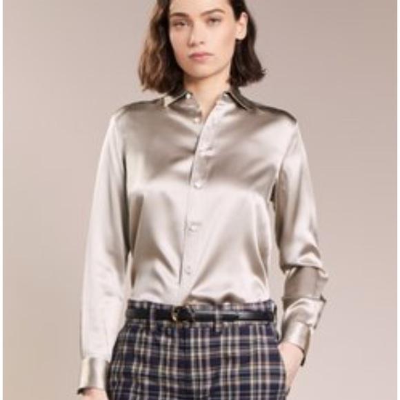 76369f6d3c Ralph Lauren champagne silk charmeuse blouse. M 5ab54375c9fcdffbca4e5a62